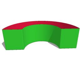 Box40: F7 -  Bogen Ø160cm 180°