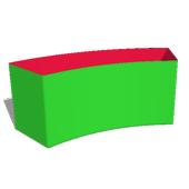 Box40: H3 -  Bogen Ø320cm 45°