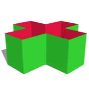 Box40: E1 -  Verzwiegung X-Eckig